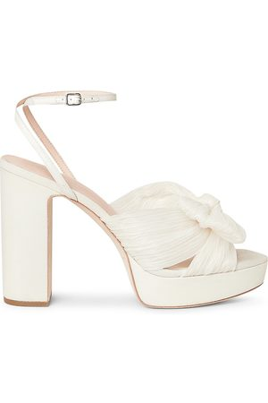 Loeffler Randall Women's Natalia Knotted Platform Sandals - Pearl - Size 10