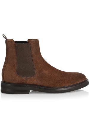 Brunello Cucinelli Men's Suede Ankle Boots - Dark - Size 7