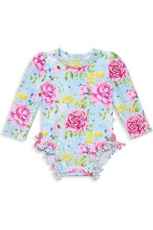 Posh Peanut Baby Girl's & Little Girl's Sadie Rashguard One-Piece Swimsuit - Sadie - Size 18 Months