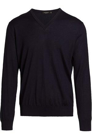 Ermenegildo Zegna Men's Cashseta Cashmere Sweater - Navy - Size 46