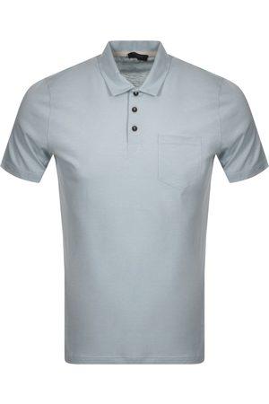 Ted Baker Slub Polo T Shirt Grey