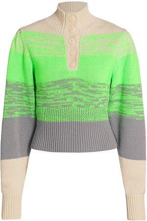 Baum und Pferdgarten Women's Coastal Communities Caroleen Wool-Blend Sweater - Cap Grey - Size Large