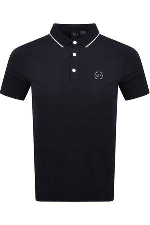 Armani Short Sleeved Polo T Shirt Navy