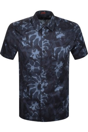 Ted Baker Ufroze Short Sleeved Shirt Navy