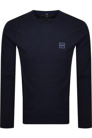HUGO BOSS BOSS Long Sleeved Tacks T Shirt Navy