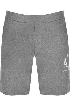 Armani Men Bermudas - Jersey Bermuda Shorts Grey