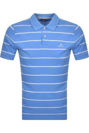 GANT Men Polo Shirts - Breton Stripe Rugger Polo T Shirt
