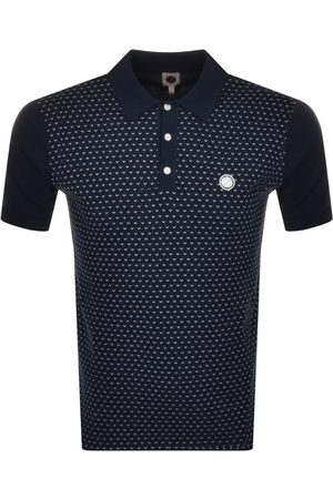 Pretty Green Men Polo Shirts - Birdeye Knit Polo T Shirt Navy
