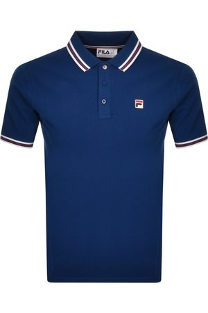 Fila Men Polo Shirts - Prime Tipped Polo T Shirt Navy