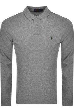 Ralph Lauren Long Sleeved Polo T Shirt Grey