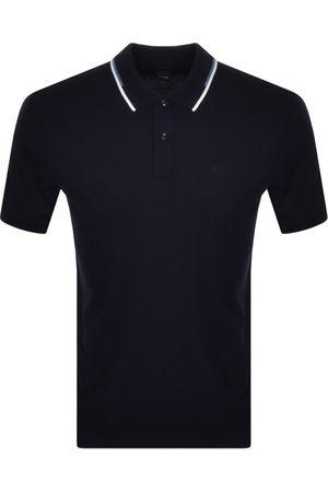 HUGO BOSS BOSS Parlay 104 Short Sleeve Polo T Shirt Navy