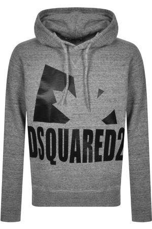 Dsquared2 Leaf Logo Hoodie Grey