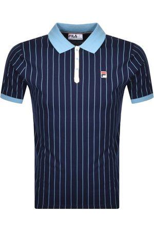 Fila Pinstripe Polo T Shirt Navy