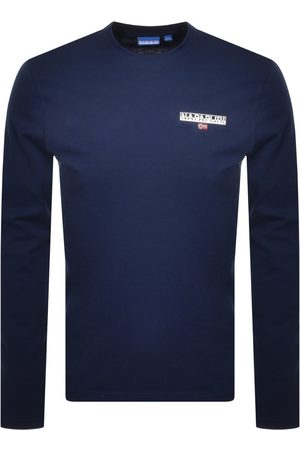 Napapijri S Ice Long Sleeve T Shirt Navy