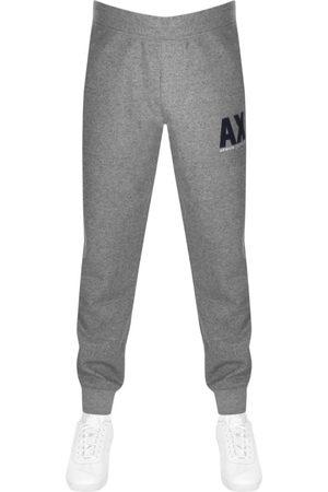 Armani Logo Jogging Bottoms Grey