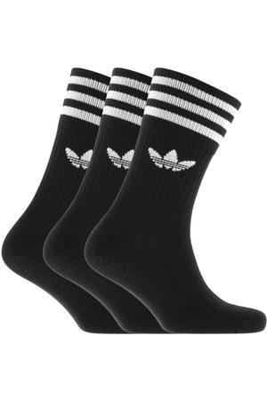 adidas Men Socks - Three Pack Solid Crew Socks