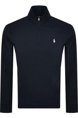 Ralph Lauren Men Long sleeves - Long Sleeve Half Zip Sweatshirt Navy