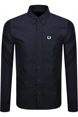 Fred Perry Men Long sleeves - Oxford Long Sleeved Shirt Navy