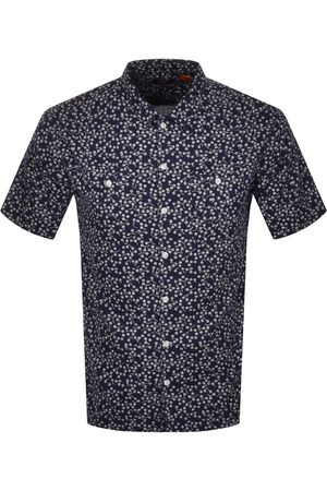 Superdry Beach Short Sleeved Shirt Navy