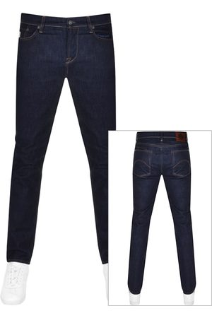 Pretty Green Erwood Slim Fit Jeans Dark Navy
