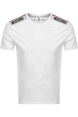 Moschino Taped Logo Short Sleeved T Shirt