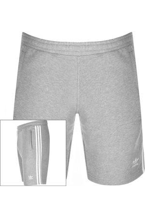 adidas Three Stripe Shorts Grey