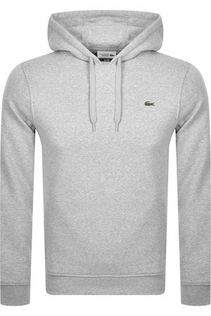 Lacoste Sport Logo Pullover Hoodie Grey