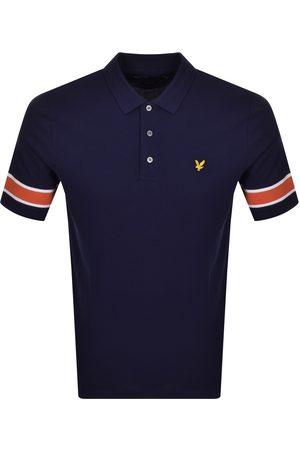 Lyle & Scott Rib Short Sleeved Polo T Shirt Navy
