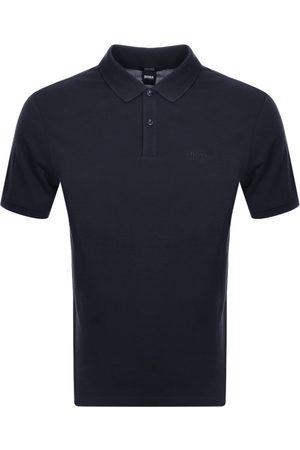 HUGO BOSS BOSS Pallas Short Sleeved Polo T Shirt Navy