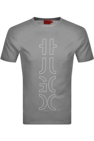 HUGO BOSS Darlon 213 Short Sleeved T Shirt Grey