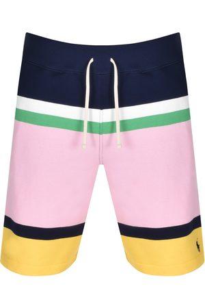 Ralph Lauren Stripe Sweat Shorts Navy