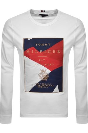 Tommy Hilfiger Icon Patch Long Sleeve T Shirt Whit