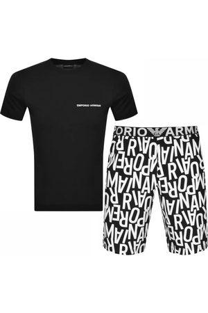 Armani Emporio Pyjama Loungwear Set Black