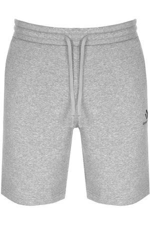 Converse Star Chevron Logo Jersey Shorts Grey