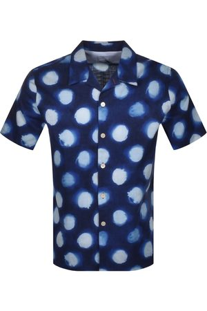 Paul Smith PS By Spotted Short Sleeved Shirt Navy