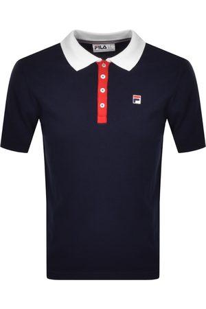 Fila Santiago Knit Polo T Shirt Navy