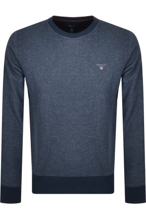 GANT Crew Neck Logo Sweatshirt Navy