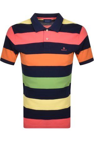 GANT Barstripe Rugger Polo T Shirt Navy