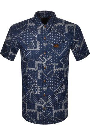 Superdry Workwear Short Sleeved Shirt Navy