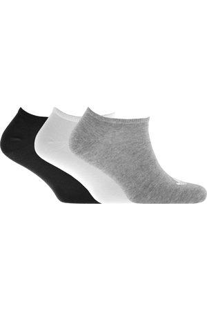 adidas Three Pack Trefoil Socks Grey