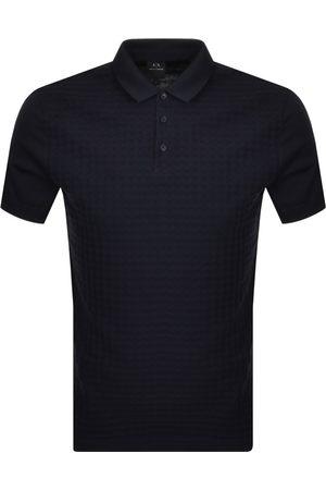 Armani Logo Polo T Shirt Navy