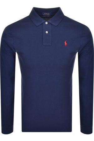 Ralph Lauren Long Sleeve Polo T Shirt Navy