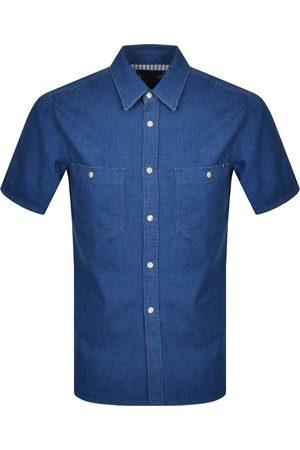 Tommy Hilfiger Short Sleeved Denim Shirt Navy