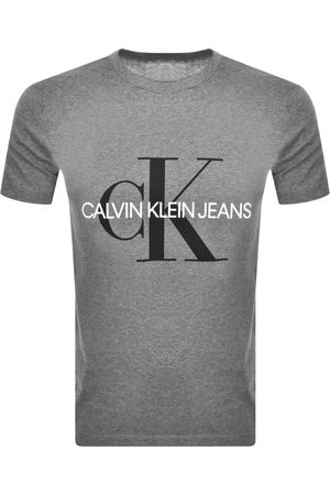 Calvin Klein Jeans Slim Monogram Logo T Shirt Grey
