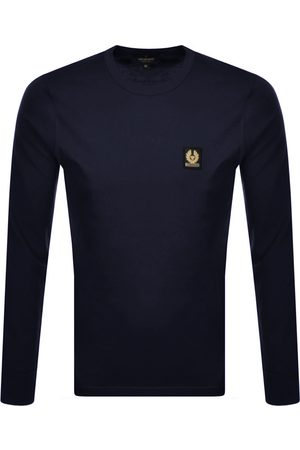 Belstaff Long Sleeved T Shirt Navy