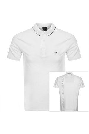 Armani Tipped Logo Polo T Shirt
