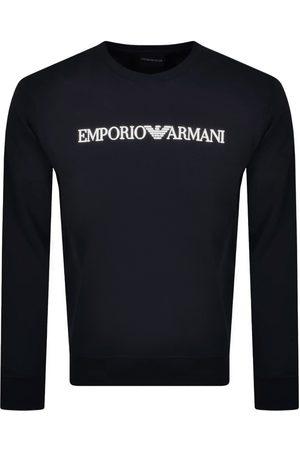 Armani Emporio Crew Neck Logo Sweatshirt Navy