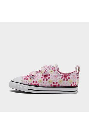 Converse Girls' Toddler Canvas Broderie Easy-On Chuck Taylor All Star Casual Shoes Size 4.0 Cotton/Canvas