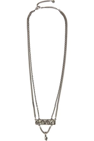Alexander McQueen Crushed Skull -tone chain necklace