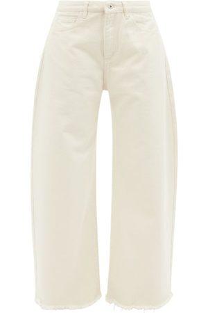 MARQUES'ALMEIDA Women Wide Leg - Frayed-cuff Organic-cotton Wide-leg Jeans - Womens